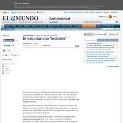 El voluntariado 'invisible'