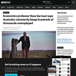 Economics professor Ross Garnaut says Australia voluntarily keeps hundreds of thousands unemployed