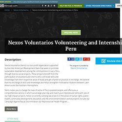 Nexos Voluntarios Volunteering and Internships in Peru