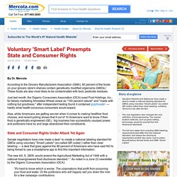 Voluntary Smart Labels Preempt States' and Consumers' Rights