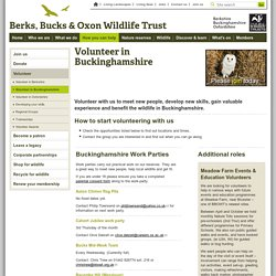 Berks, Bucks & Oxon Wildlife Trust