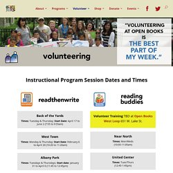 Volunteer Dates and Times