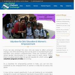 Girls Volunteer Programs in India