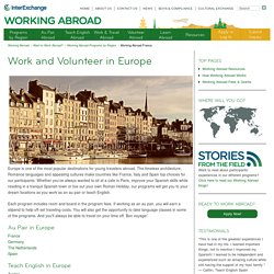 Work and Volunteer in Europe