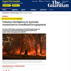 Volunteer firefighters in Australia warned not to crowdfund for equipment