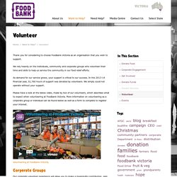 Volunteer - Foodbank Victoria