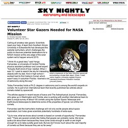 Volunteer Star Gazers Needed for NASA Mission