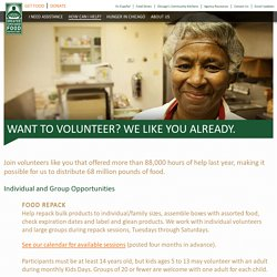 Volunteer - Greater Chicago Food Depository