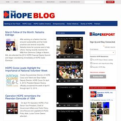 Operation HOPE Blog
