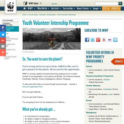 Youth Volunteer Internship Programme