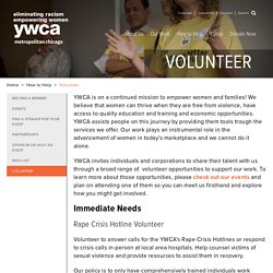 Volunteer - YWCA Metropolitan Chicago