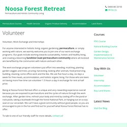 Volunteer - Noosa Forest Retreat