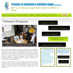 Volunteer Programs & Opportunities