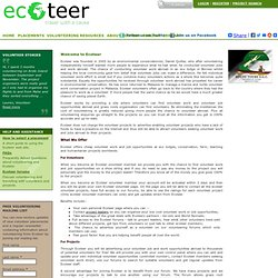 Cheap volunteer opportunities, work and jobs abroad with Ecoteer