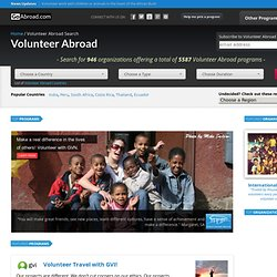 Volunteer Abroad – International Volunteer Programs & Work