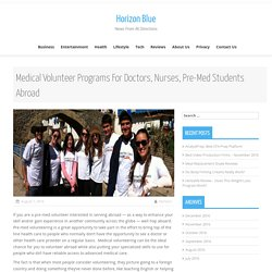Medical Mission Trips For Students