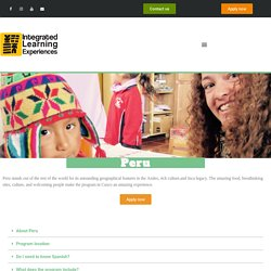 Volunteer Projects in Peru - INLEXCA