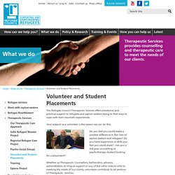 Volunteer and Student Placements