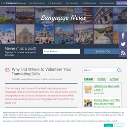 Why and Where to Volunteer Your Translating Skills