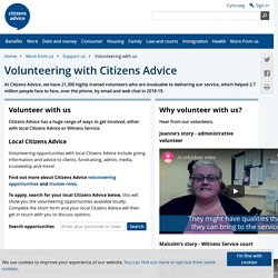 Volunteering with the Citizens Advice network