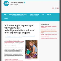 New German volunteering directory starts without orphan projects