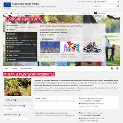 Database of Volunteering Opportunities