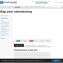 Gap Year Volunteering - Volunteer Opportunities - Gap Year