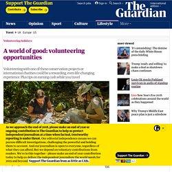 A world of good: volunteering opportunities