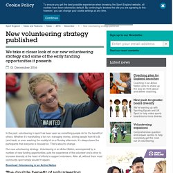 New volunteering strategy published