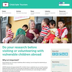 volunteering abroad, voluntourism