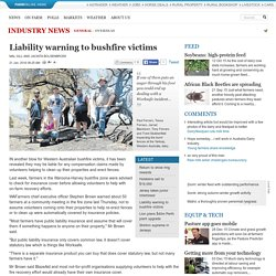 Liability warning to bushfire victims