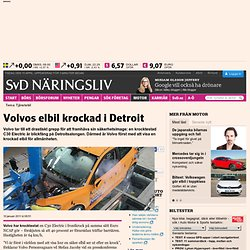 Volvos elbil krockad i Detroit