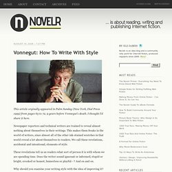 Vonnegut: How To Write With Style - Novelr
