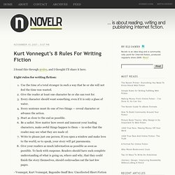Kurt Vonnegut's 8 Rules For Writing Fiction