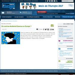 Où vont les étudiants Erasmus en Europe ?