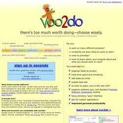 voo2do - simple, beautiful web-based to-do lists