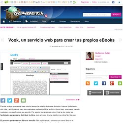 Vook, un servicio web para crear tus propios eBooks - Aurora