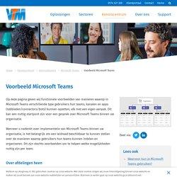 Voorbeeld Microsoft Teams