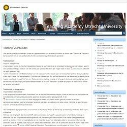 Toetsing: voorbeelden » Teaching Academy Utrecht University