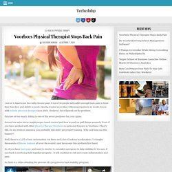 Voorhees Physical Therapist Stops Back Pain – Techeduhp