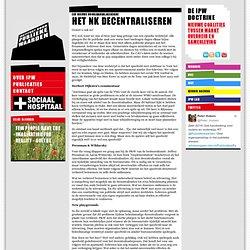 Een nieuwe voorjaarsklassieker! - Het NK Decentraliseren - Instituut voor publieke waarden