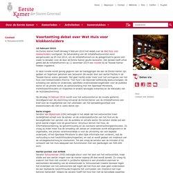 Voortzetting debat over Wet Huis voor klokkenluiders