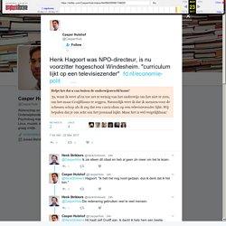 """Casper Hulshof on Twitter: """"Henk Hagoort was NPO-directeur, is nu voorzitter hogeschool Windesheim. """"curriculum lijkt op een televisiezender"""""""