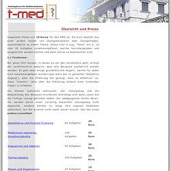 EMS/TMS Medizinstudium Trainingskurs Vorbereitungskurs Aufnahmetest Kurs Vorbereitung t-med.at -Übersicht