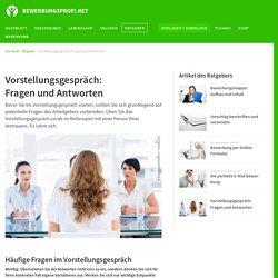 Vorstellungsgespräch: Fragen und Antworten - BEWERBUNGSPROFI.NET
