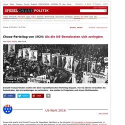 US-Vorwahlen: Chaos-Parteitag bei den Demokraten 1924