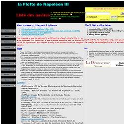 La Flotte de Napoléon III
