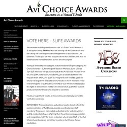 VOTE HERE – SLife Awards