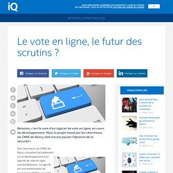 Le vote en ligne, le futur des scrutins ?