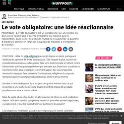Le vote obligatoire: une idée réactionnaire